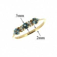 Кольцо из красного золота с топазами и бриллиантами Сандра