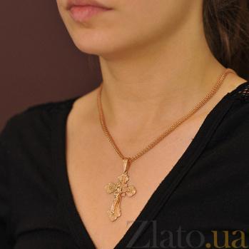 Крестик из красного золота Спасение EDM--КР010