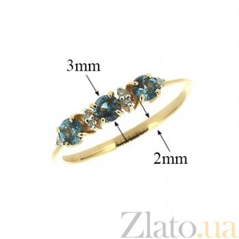 Кольцо из красного золота с топазами и бриллиантами Сандра ZMX--RT-6658_K