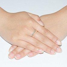 Золотое обручальное кольцо с фианитами Близость