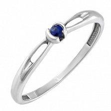 Золотое кольцо Лори с сапфиром