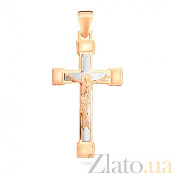 Золотой крестик Дар Господа SUF--501573кбм