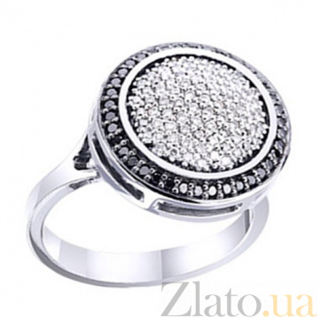 Золотое кольцо с бриллиантами Фанданго KBL--К1691/бел/брил