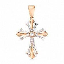 Золотой крестик с фианитами Виктория