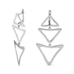 Серебряные серьги-подвески 000150564