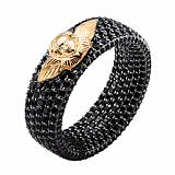 Эксклюзивное обручальное кольцо с чёрными бриллиантами Ангельская красота