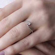 Помолвочное серебряное кольцо Решение с фианитом