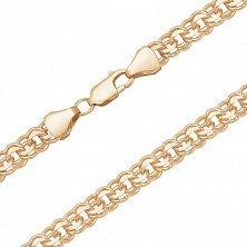 Золотая цепь Эжен в плетении бисмарк с алмазной гранью, 3мм