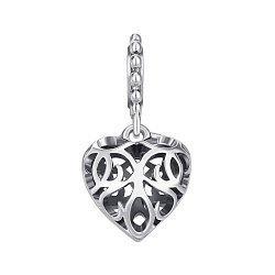 Серебряный шарм-сердце 000145974
