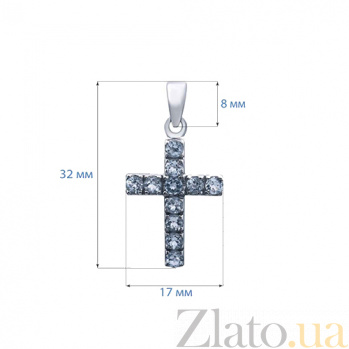 Крест декоративный с топазами Небесная сила AQA--P00086T