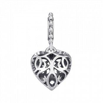 Срібний шарм-серце 000145974