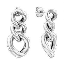 Серебряные серьги-подвески 000136199