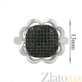 Серебряное кольцо с фианитами Подсолнух 3К543-0043