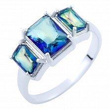 Серебряное кольцо Зарита с топазом мистик
