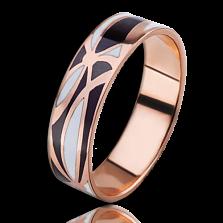 Золотое обручальное кольцо Полночь в Париже (мужское)