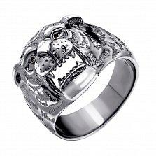 Серебряный перстень Оскал тигра