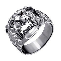 Серебряный перстень Оскал тигра 000112617