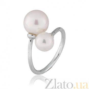 Серебряное кольцо с жемчугом Коломбина 000028047