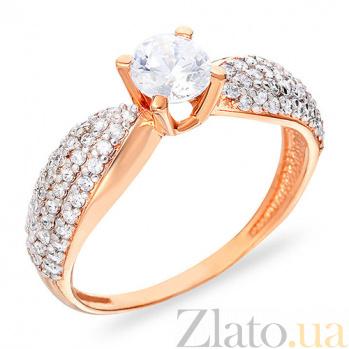 Золотое кольцо с фианитами Данита SUF--140447