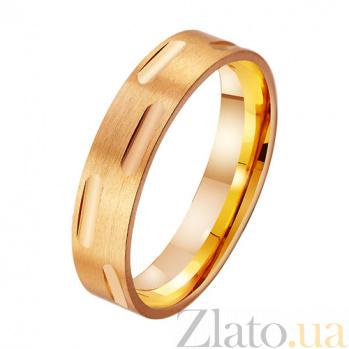 Золотое обручальное кольцо Безупречный стиль TRF--411880