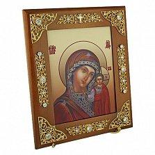 Серебряная венчальная икона Казанская Божья Матерь