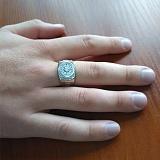 Серебряный перстень с фианитами Роберт
