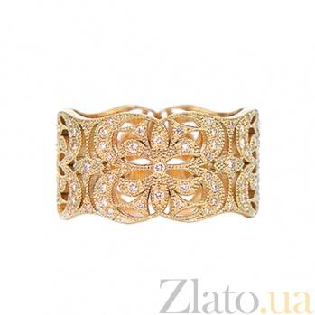 Золотое кольцо с сапфирами Елизавета 000029845