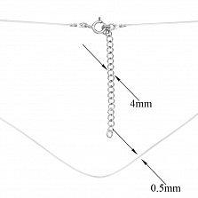 Шнурок из лески Моника с серебряной застежкой, 0,5 мм