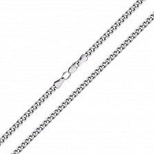 Серебряная родированная цепь Аллан с алмазной гранью, 4мм