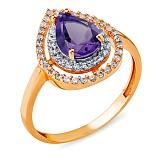 Золотое кольцо с александритом и фианитами Кайра