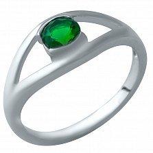 Серебряное кольцо Бланка с синтезированным изумрудом