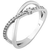 Серебряное кольцо Моэм с фианитами