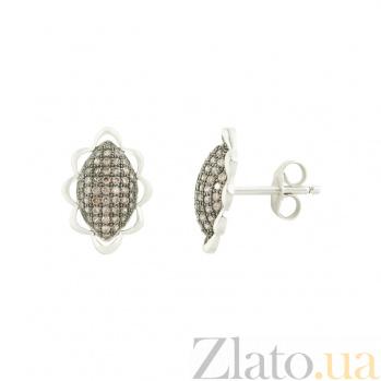 Серебряные серьги с фианитами Кармела 3С543-0044