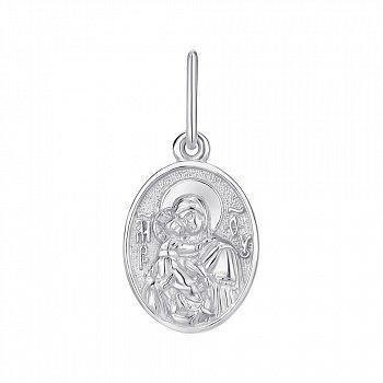 Серебряная ладанка Богородица Владимирская 000145978