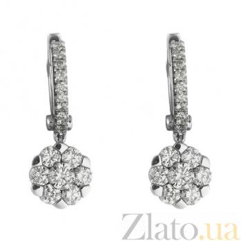 Золотые серьги с бриллиантами Хильда 1С193-0230