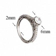 Серебряное кольцо с фианитами Джэйон