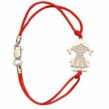 Браслет Девочка с красным шнурком