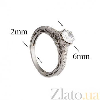 Серебряное кольцо с фианитами Джэйон 000030077