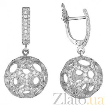 Серьги из белого золота Эрида VLT--ТТ2258-3