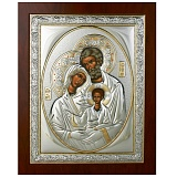 Серебряная икона Святое Cемейство
