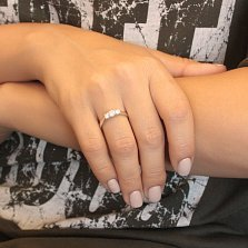 Серебряное кольцо Наина с кристаллами Swarovski