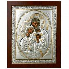 Серебряная икона Святое Cемейство, 21х17см