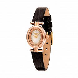 Часы из красного золота и серебра с фианитами 000135454