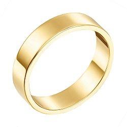 Обручальное кольцо из желтого золота Американская модель
