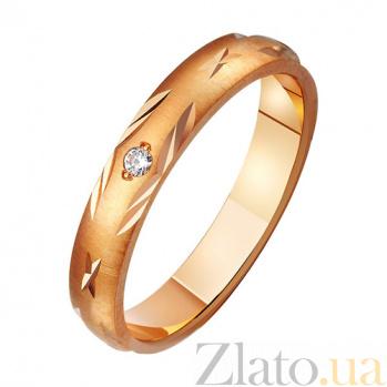 Золотое обручальное кольцо Звезда с неба с фианитом TRF--412127
