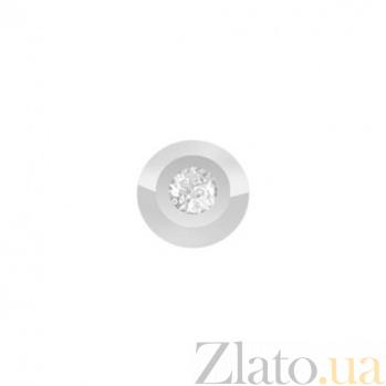 Золотой подвес с бриллиантом Мелани в белом цвете KBL--П247/бел/брил