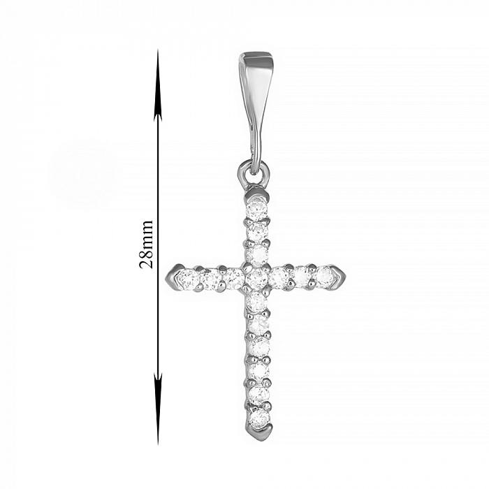 Серебряный крестик с фианитами 000025278 000025278
