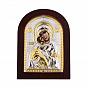 Икона Божия Матерь Владимирская с серебром и позолотой в деревянной рамке 000140109