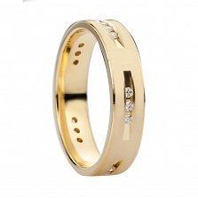 Золотое обручальное кольцо Блистательный дуэт