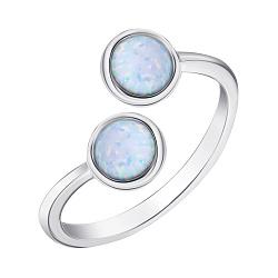 Серебряное кольцо с опалами 000139657